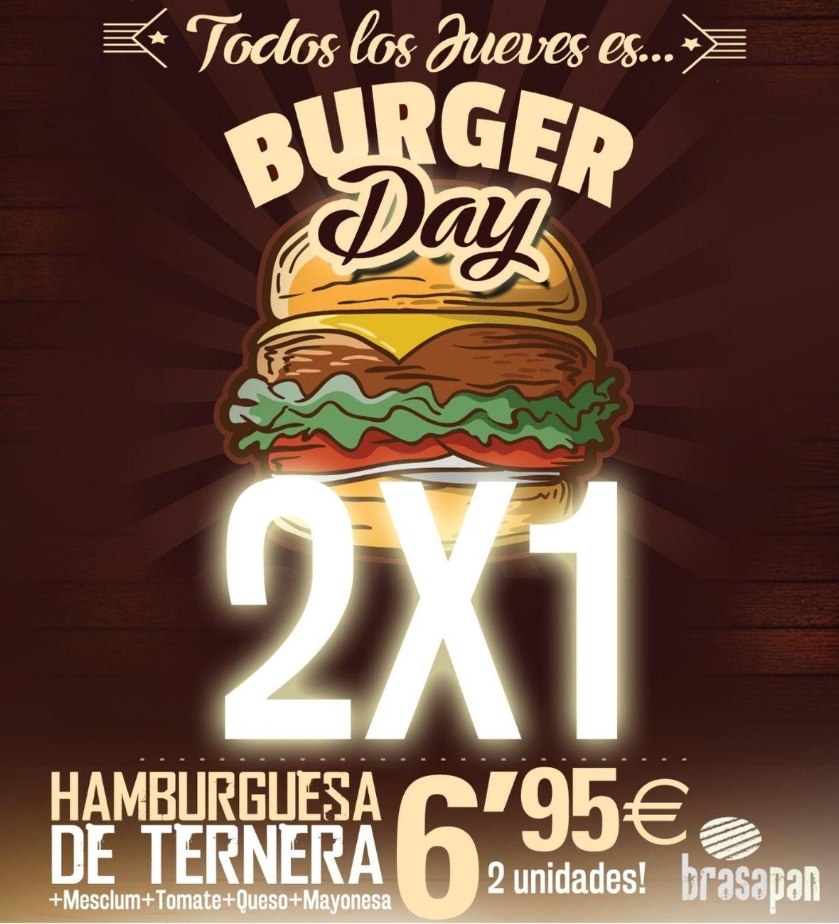los jueves Burguer Day 2x1 en Brasapan Gandia